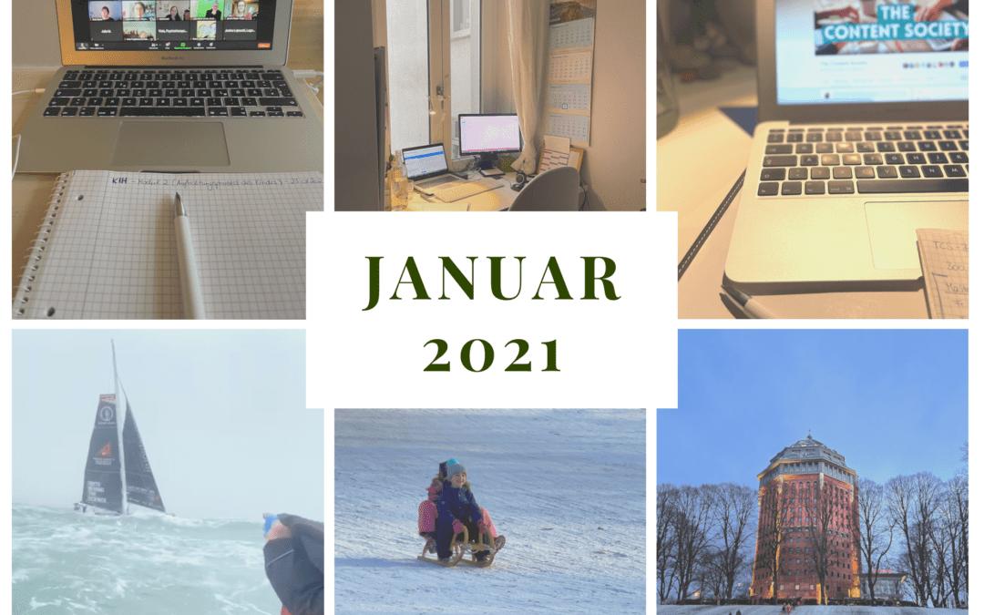 Monatsrückblick Januar 2021: Blicke in, auf und weg vom Bildschirm