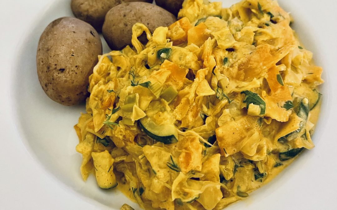 Weißkohl-Karotten-Curry