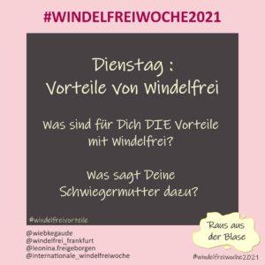 Windelfreiwoche 2021 Dienstag