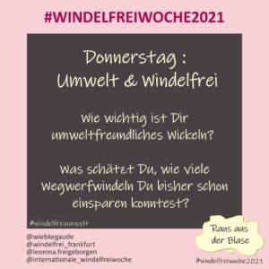 Windelfreiwoche 2021 Donnerstag