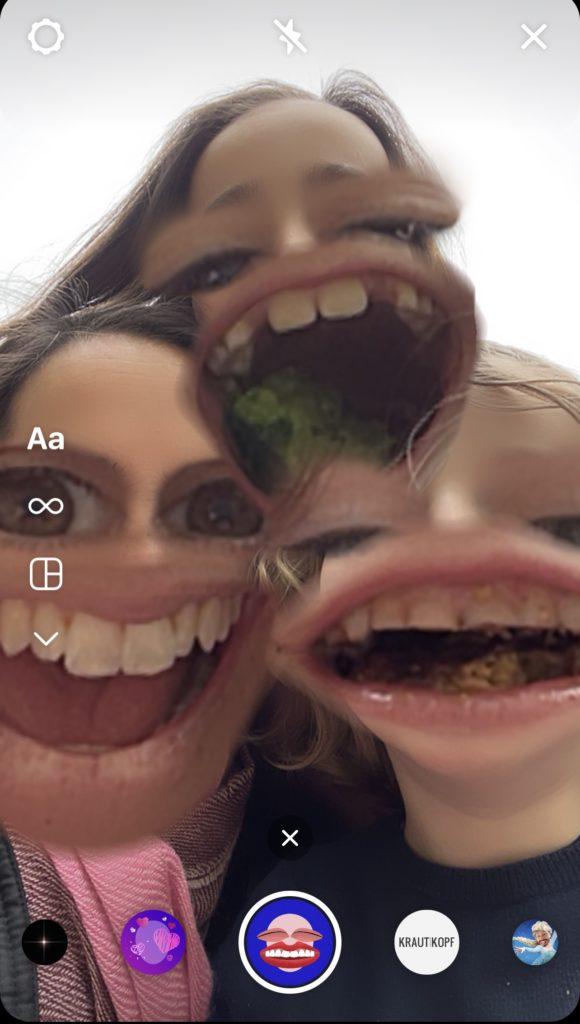 Screenshot eines Insta-Filters