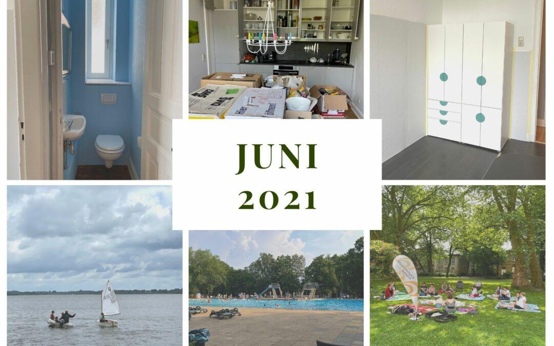 Monatsrückblick Juni 2021: Wohnung im Wandel, Segeln und Sommer