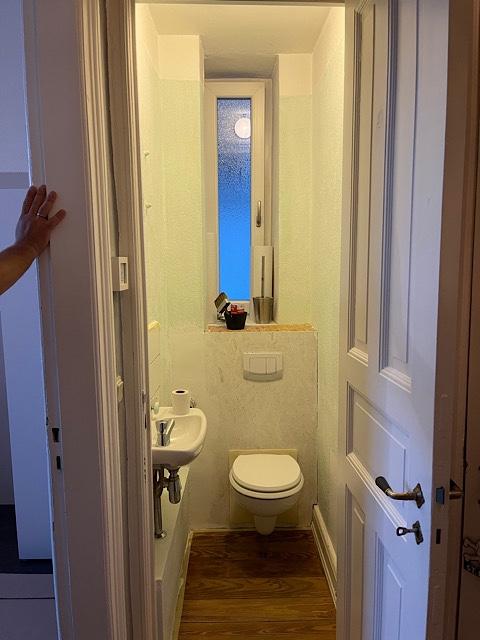 Toilette in weiß