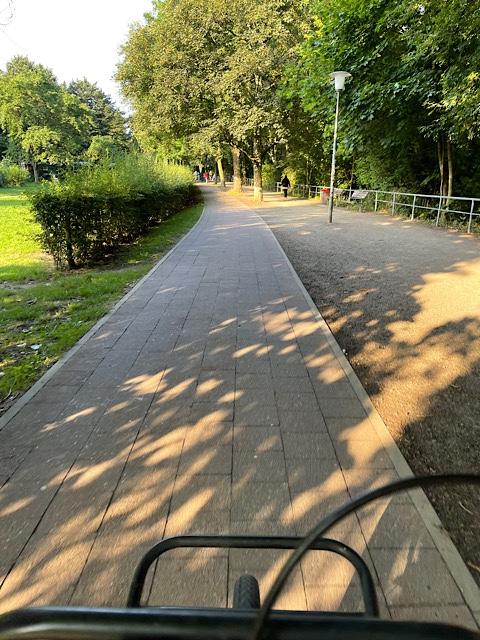 Blick auf Radweg