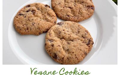 Einfache vegane Schoko-Cookies