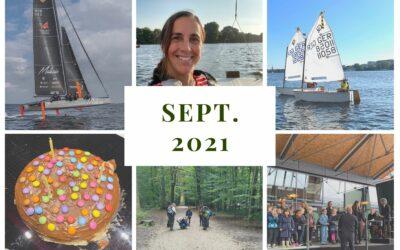 Monatsrückblick September 2021: Segeln hoch drei